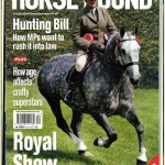 Louise on the front cover of the Horse & Hound magazine