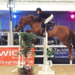 Atiya & Westwinds Ego on route to 2nd place in the Under 16s Championship at Scope CSI